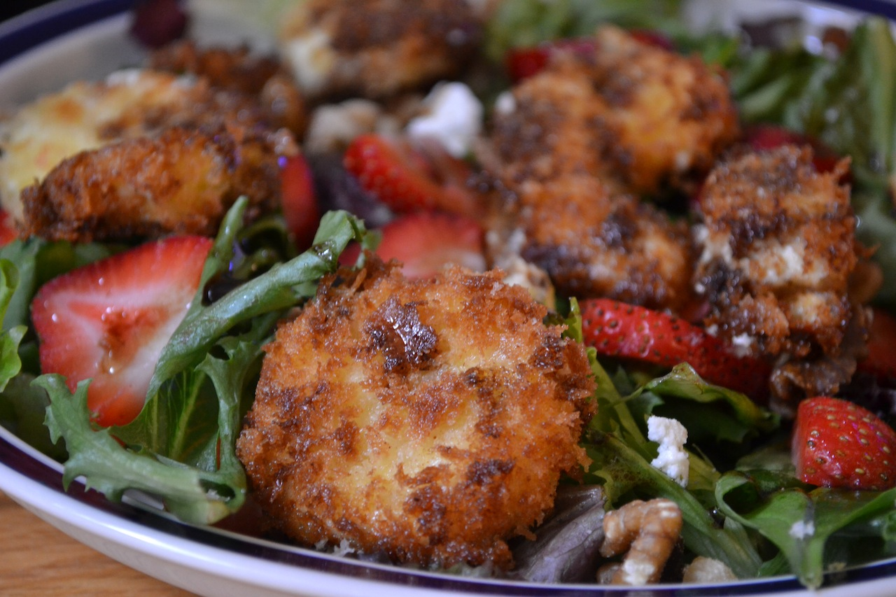 Dinner With Rachel » Blog Archive » Fried Goat Cheese Salad